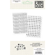 Planner Essentials Clear Number Stickers - Simple Stories