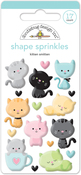 Kitten Smitten Shape Stickers - Doodlebug