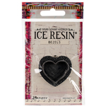Antique Silver - Ice Resin Milan Bezels Closed Back Heart Medium