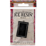 Antique Silver - Ice Resin Milan Bezels Closed Back Rectangle Medium