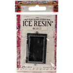 Antique Silver - Ice Resin Milan Bezels Closed Back Rectangle Large