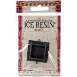 Antique Silver - Ice Resin Milan Bezels Closed Back Square Medium