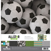 "Soccer - Paper House Paper Crafting Kit 12""X12"""