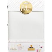 "White Canvas - Minc Journal Cover 6""X9"""