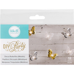 Butterfly Layers; Gold, Silver & White - DIY Party Light Covers 12/Pkg