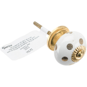 White/Gold - Heritage Hardware Ceramic Knob
