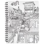 "Ninja - Hall Pass Adult Coloring Spiral Bound Sketchbook 8.5""X11"""
