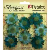 """Teal - Botanica Mini Gerbera Daisies 1.25"""" 8/Pkg"""