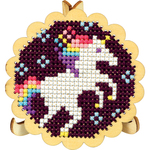 """3"""" Round - Round Scallop Edge Display W/Easel Punched For Cross Stitch"""