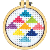 "1.5"" Round - Mini Round Wood Hoops Punched For Cross Stitch"