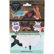 6/Pkg - Animal Shapes Punched For Cross Stitch