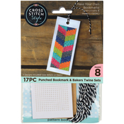 "4.75""X2"" 8/Pkg - Bookmarks W/Bakers Twine Punched For Cross Stitch"