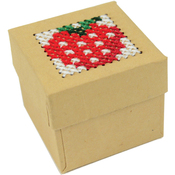 "1.75""X1.75""X1.5"" 4/Pkg - Mini Trinket Boxes Punched For Cross Stitch"