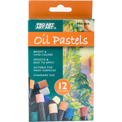 Assorted Colors - Pro Art Oil Pastels 12/Pkg