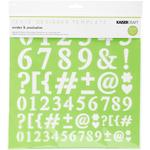 "Numbers & Punctuation - Kaisercraft Designer Template 12""X12"""