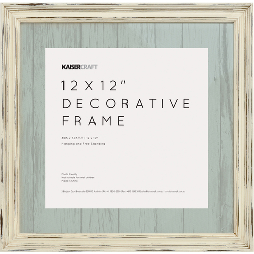 kaisercraft frames antique white distressed kaisercraft frame 12x12 a cherry on top - Distressed White Picture Frames