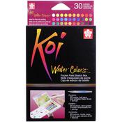 Assorted Colors - Koi Watercolor Pocket Field Sketch Box - 30 Colors
