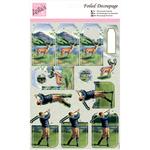 Highland Golf - Anita's A4 Foiled Decoupage Sheet