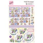 Flowers At Tea Time - Anita's A4 Foiled Decoupage Sheet