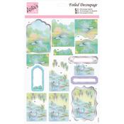 Swan Lake - Anita's A4 Foiled Decoupage Sheet
