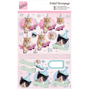 Party Kittens - Anita's A4 Foiled Decoupage Sheet