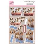 Puppy Love - Anita's A4 Foiled Decoupage Sheet