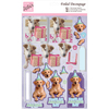 Party Pooches - Anita's A4 Foiled Decoupage Sheet