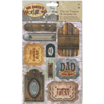 Toppers & Sentiments - Papermania Mr. Smith's Workshop A5 Die-Cuts 2/Sheets