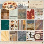 """Mr. Smith's Workshop - Papermania Paper Pack 12""""X12"""" 36/Pkg"""