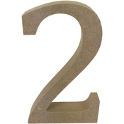 Serif Number 2 - Smooth MDF Blank Shape
