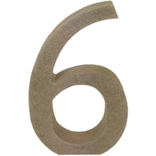 Serif Number 6 - Smooth MDF Blank Shape