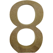 Serif Number 8 - Smooth MDF Blank Shape