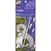 Round Yarn Design With Silver Finish - LoRan Shawl Stick Pin