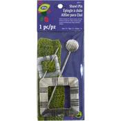 Square Silver Finish - LoRan Shawl Stick Pin