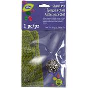 Antique Silver Flower - LoRan Shawl Pin