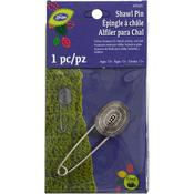 Silver Shield Design - Loran Shawl Pin