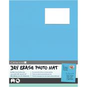 "Light Blue - Dry-Erase 8""X10"" Photo Mat Holds 2""X3"" Photo"