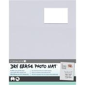 "Light Gray - Dry-Erase 8""X10"" Photo Mat Holds 2""X3"" Photo"