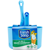 Scooper, Dust Pan, Broom & Caddy - Fresh Step Deluxe Cleanup Kit