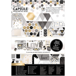 Geometric Mono - Papermania Ultimate A4 Die-Cuts & Paper Pack 48/Pkg