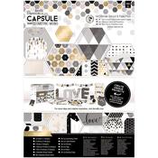 Geometric Mono - Papermania Ultimate A4 Die-Cuts & Paper Pack 48/Pkg