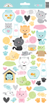 Kitten Smitten Icon Stickers - Doodlebug