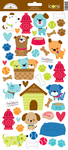 Puppy Love Icon Stickers - Doodlebug