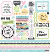 Kitten Smitten This & That Sticker Sheet - Doodlebug