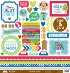 Puppy Love This & That Sticker Sheet - Doodlebug