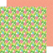 Island Blooms Paper - Fun In The Sun - Doodlebug
