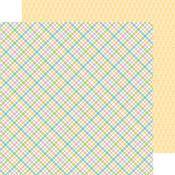 Pastel Plaid Paper - Kitten Smitten - Doodlebug