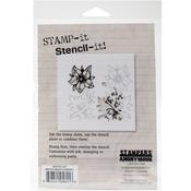 "Mirror Image Flowers 2 - Studio 490 Stamp It Stencil It 7""X8.5"""