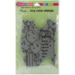 """Birthday Balloons - Stampendous Fran's Cling Stamps 7.75""""X4.5"""""""