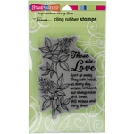 """Those We Love - Stampendous Fran's Cling Stamps 7.75""""X4.5"""""""